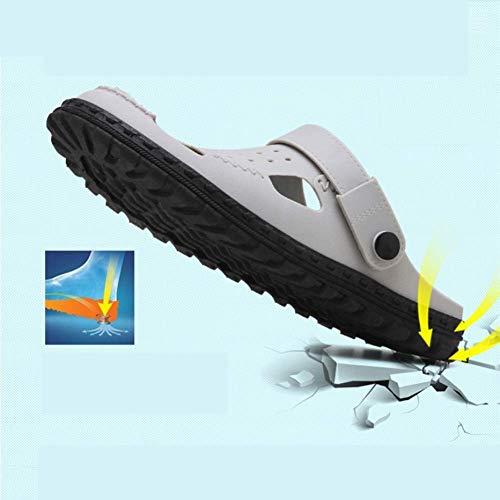 pour Mode 40 Trou Femelle Les Air Amateurs Pantoufles Sandales Les Un des Portent Male Gray Sandales De Plage Une en Chaussons Et Tendance Plein YFvqH