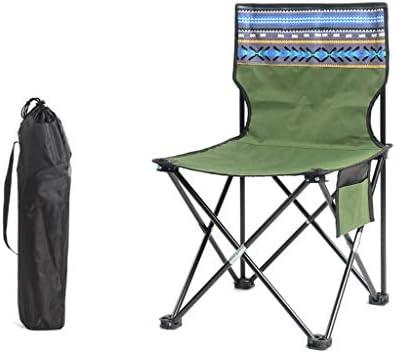 XUQIANG Chair Outdoor Folding Chair Camping Chair Portable Chair Beach Chair Fishing Chair Stool Green Folding chair (Size : S)
