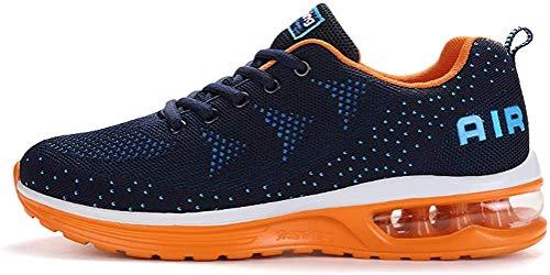 populalar Herren Damen Laufschuhe Turnschuhe Sportschuhe Straßenlaufschuhe Sneakers Atmungsaktiv Trainer für Running Fitness Gym Outdoor Leichte 34EU-46EU