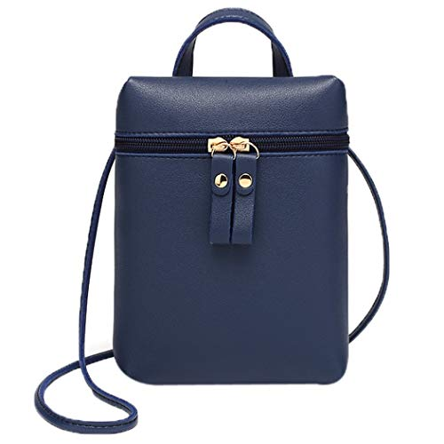 Purse Phone Messenger One Bag Black Backpack Mobile Women Candy Small Color Alixyz Bag Shoulder Blue wCTAqna