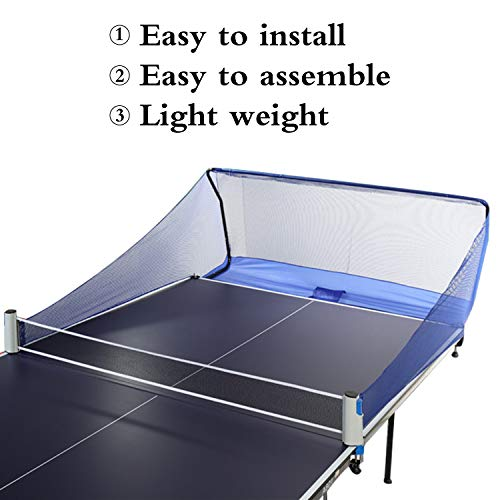 Yaegoo Table Tennis Ball Catch Net Ping Pong Table Tennis Catcher Net - Portable Ball Catch Netting - Serve and One Player Training Practice Set - Compatible with Robot Trainer Equipment (Table Tennis Ball Catch Net)