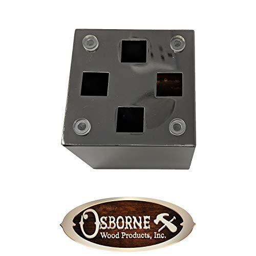 4'' Madison Vanity Foot (Hollow) (Brushed Aluminum Finish) by Osborne Wood Products, Inc (Image #2)