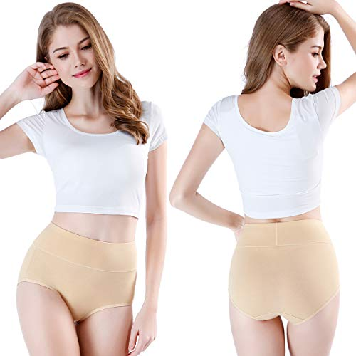 1e8087c47d7f wirarpa Women's Cotton Underwear Panties High Waisted Full - Import ...