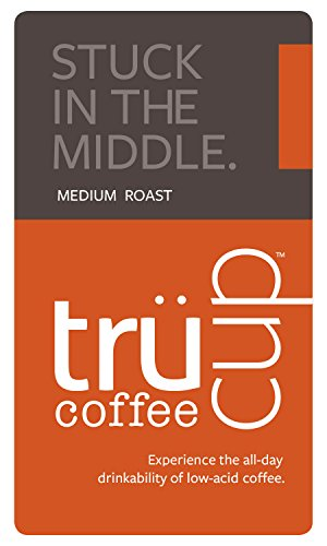 Trücup Low Acid Coffee - Stuck in the Middle, Medium Roast - French Press Grind, One Pound Bag
