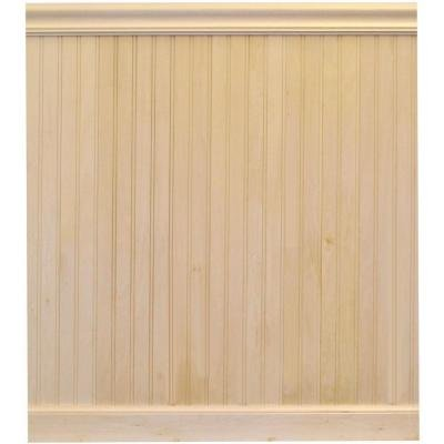 8 Linear ft. Basswood Tongue and Groove Wainscot Paneling by House of Fara