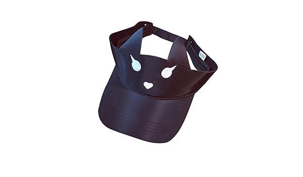 Amazon.com: Botrong Women Outdoor Visor Sun Plain Hat Cap Simple Summer Design Cat Hats (Black): Cell Phones & Accessories