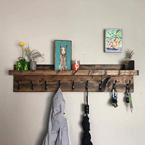 "Coat Rack with Shelf (40"" Long)"