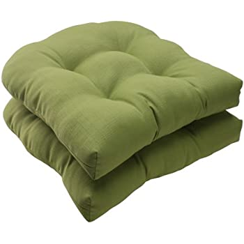 amazon com pillow perfect indoor outdoor forsyth wicker seat