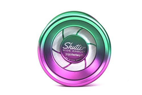 Shutter Wide Angle Yoyo by YoyoFactory Color Green Purple Fade from the Multicolor Collection [並行輸入品] B07HLJ7T3Y
