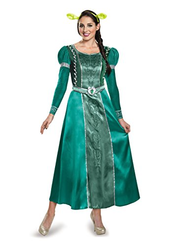 Shrek Costumes (Disguise Women's Fiona Deluxe Adult Costume, Green, Large)