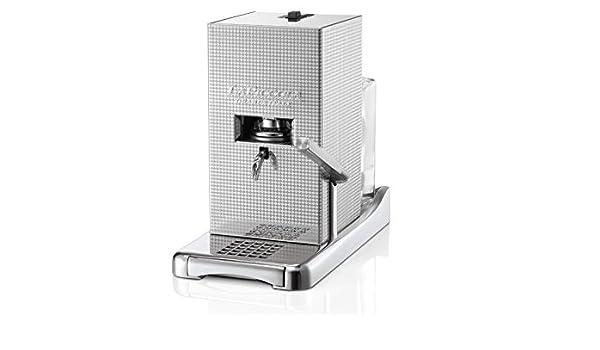 La Piccola Perla máquina de café espresso como ropa de caja de acero inoxidable filtro de café Pad máquina hecho en Italia: Amazon.es: Hogar