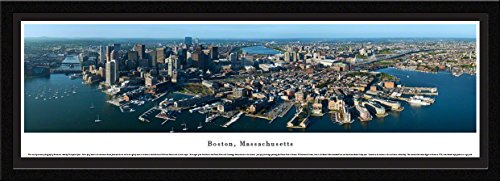 Frame Horizontal Nhl Picture (Blakeway Worldwide Panoramas Boston, Massachusetts - Blakeway Panoramas Skyline Posters with Select Frame, Single Mat)