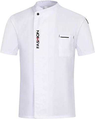 Xianheng Camiseta Camisa de Chef Cocinero Cocina Manga Corta para Verano para Hombres y Mujeres: Amazon.es: Ropa y accesorios