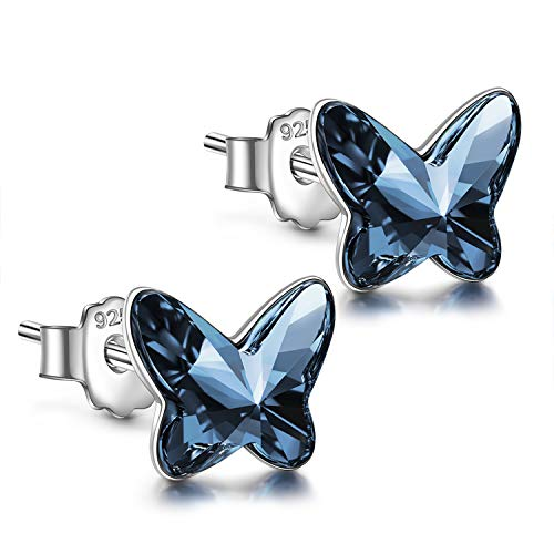 Gifts for Women Jewelry for Women Stud Earrings for Women Christmäs Gifts for Women Gifts for Mom Gifts for Grandma Gifts Teacher Gifts Butterfly Sterling Silver earrings Christmas Earrings