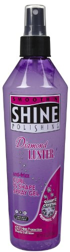 - Smooth and Shine Polishing Diamond Luster Anti-Frizz Curl and Shape Spray Gel, 12 Ounce
