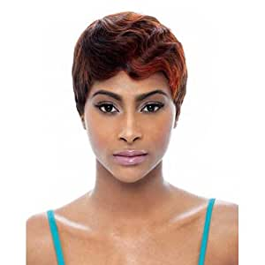 Janet Collection Human Hair Wig - Mommy 4-1B