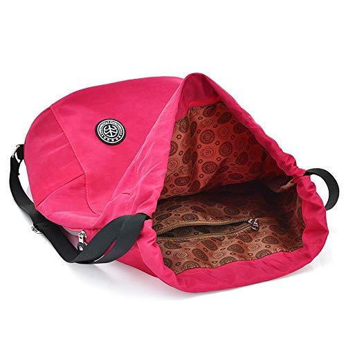 Ryggsäck för kvinnor för tonårsflickor dragsko ryggsäck snöre axelväska kvinnlig daglig vardagsväska en dos solid skola ryggsäckar Rosa (Hot Pink) Khaki