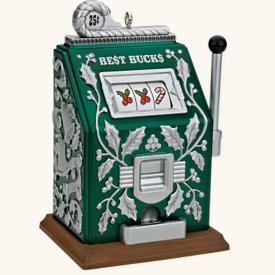 QXG2094 Best Bucks Slot Machine 2008 Hallmark Keepsake (Slot Machine Ornament)