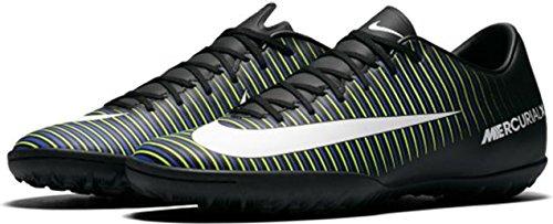 Nike Mens Mercurialx Seger Vi Torv Skor Svart / Vit / Elektriska Gröna Fotbollsskor