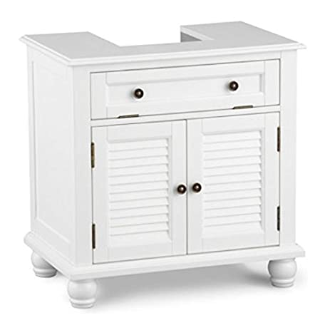 Captivating Louvered Pedestal Sink Cabinet   White Great Ideas