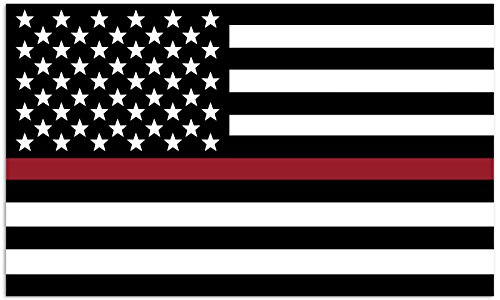 Mind Your Magnets American Flag Car Magnet - Thin Red Line - First Responder/Armed Forces Flags - Firefighters, EMTs, Marine Corps, Coast Guard - Coast Guard Car Flag