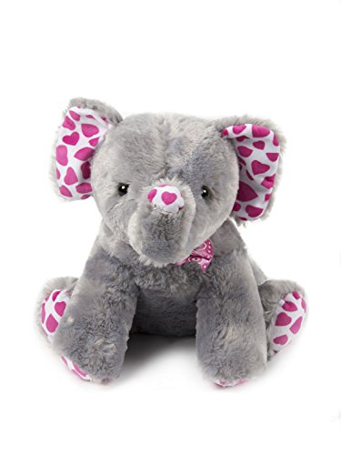 HollyHOME Super Soft Stuffed Animal Elephant Plush toy 15 inches Gray