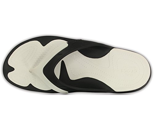 Crocs Modi Flip noir Sport Tongs Mixte blanc Adulte rrABSdwq