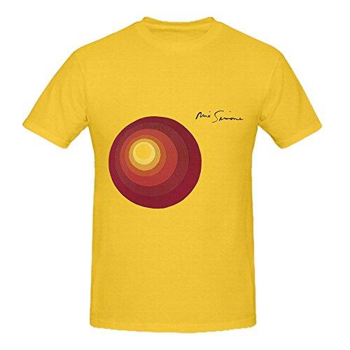 Ptshirt.com-19405-Nina Simone Here Comes The Sun Soul Mens Round Neck Cool T Shirt-B01GP4VC2O-T Shirt Design