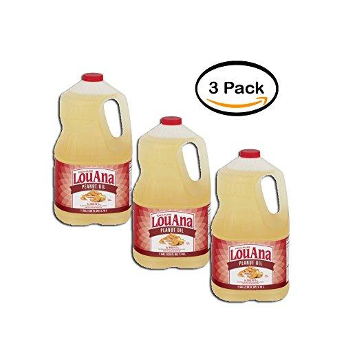 Peanut Louana (pack of 3 - LouAna Peanut Oil, 128.0 FL OZ)