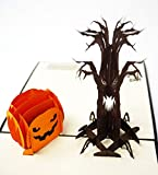 Halloween 3D Pop Up Greeting Card For Kids, Mom, Dad, Friends, Family, Loved Ones - Funny Awesome Scary Greeting Card with Envelope (Scary Night)