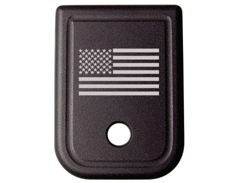 for Glock 9MM .40 Gen 1-5 Floor Base Plate Black NDZ US Flag