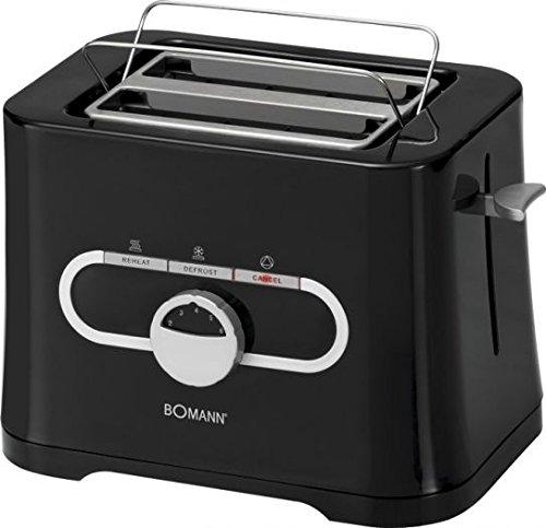 Bomann TA 1533 CB Tostadora, 870 W, 230 V, 50 Hz, Color Negro ...