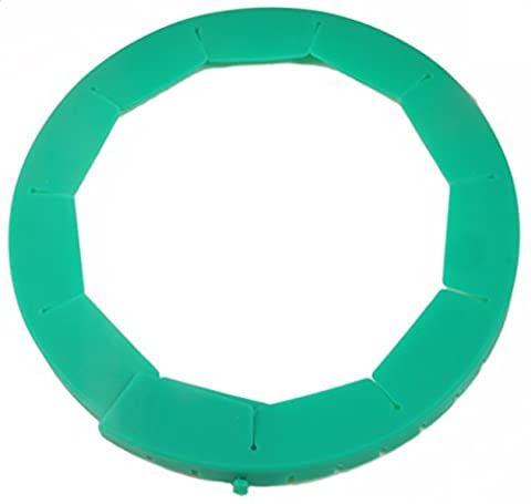 Silicone Pie Crust Shield, Adjustable Pie Protector, Green; Great Companion for Any Pie Pan & Baking Project