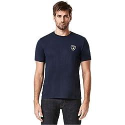 Lamborghini Men's Shield T-Shirt, Navy (Large)