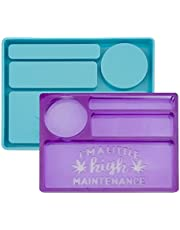 LUTER Rolling Tray Resin MoldRectangle Silicone Tray Mold for DIY Decorative Tray, Serving Board, Jewelry Trays, Coffee Tray, Fruit Snack Tray(Blue)