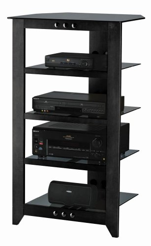 Sanus Foundations Natural NFA245 Audio Stand - Steel, Glass,