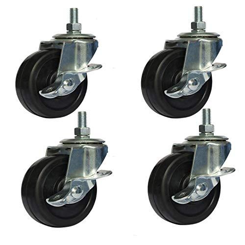 OuYi Brake Stem Casters Wheel 3/8