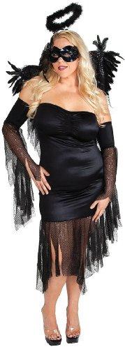 Plus size Fallen Angel Costume Black