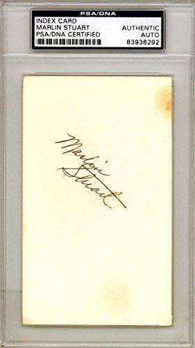 Marlin Stuart Autographed Signed 3x5 Index Card Detroit Tigers #83936292 PSA/DNA Certified MLB Cut Signatures