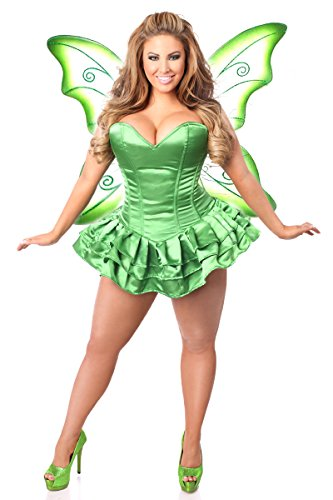 Daisy corsets Women's Lavish 2 Pc Green Fairy Corset Dress Costume, 6X -