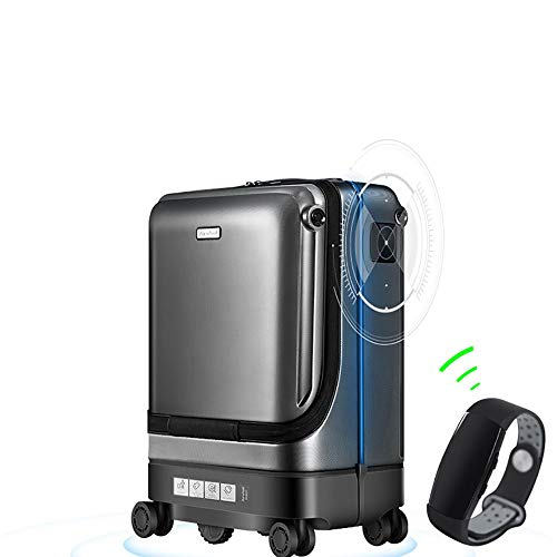 Pettneeds Smart Suitcases Automatically Follow Trolley Case Anti-Lost Alarm Travel Suitcase Electric Luggage Can Be…