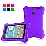 protective lg tablet case - Bolete Ultra Light Weight Shock Proof Protective Case for LG G pad V400 / V410 (LTE) / UK410 / VK410 7 inch LG Tablet - Purple