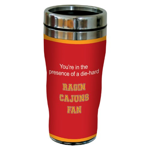 Tree-Free Greetings sg24764 Ragin' Cajuns College Basketball Sip 'N Go Stainless Steel Lined Travel Tumbler, 16 Ounce ()