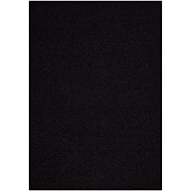 Shaggy Collection Solid Color Shag Area Rugs (Black, 6'7 x9'6 ) (4013)
