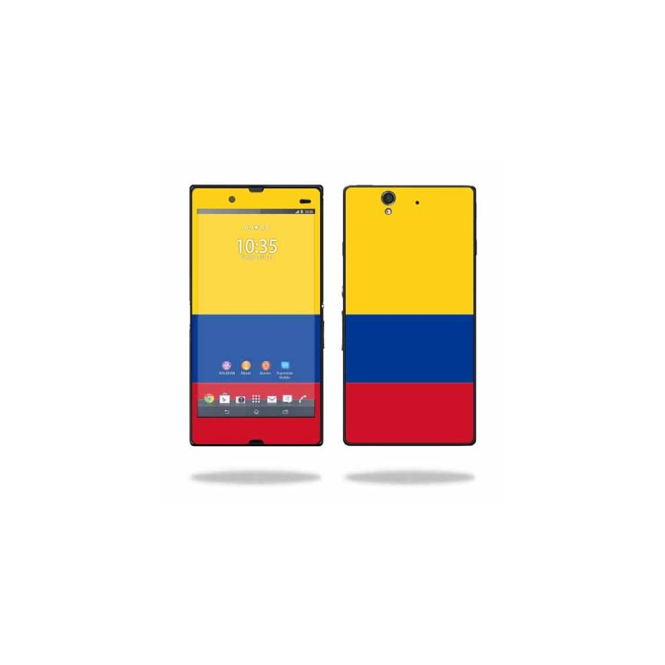 MightySkins Protective Vinyl Skin Decal Cover for Sony Xperia Z 4G LTE T Mobile Sticker Skins Colombian Flag Cell Phones & Accessories