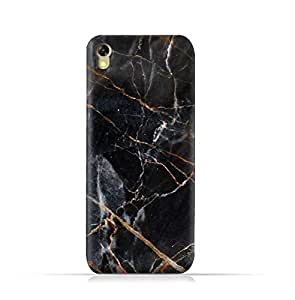 Infinix Hot 5 X559 TPU Silicone Protective Case with Dark Grey Marble Texture