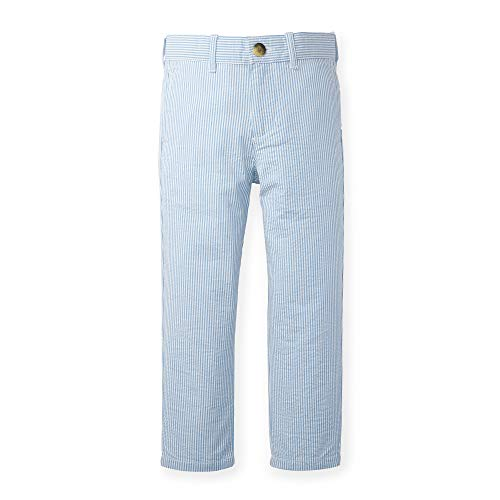 Hope & Henry Boys Blue Seersucker Suit Pant (Linen Suit For Toddlers)