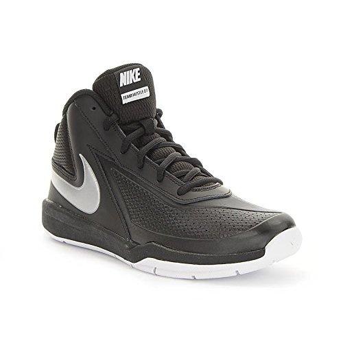 Nike Herren Team Hustle D 7 (GS) Basketball Turnschuhe, Black (Schwarz / Metallic Silber-Weiß), 39 EU