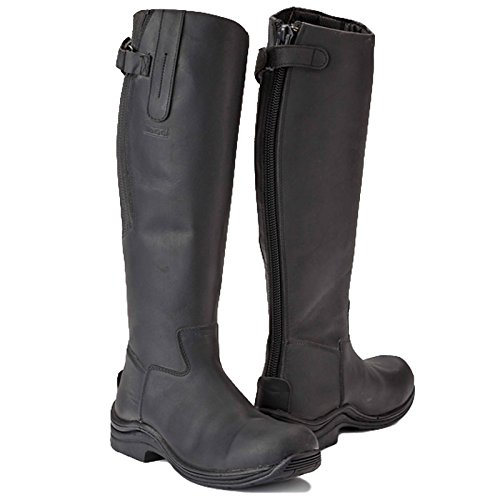 EU Leg With Fitting Black Long Wide Leather 6 5 Calgary Boot Riding 40 Full In Size Zip Toggi Azaq1