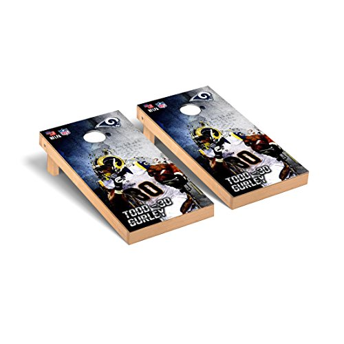 NFL Los Angeles Rams Todd Gurley 30 PA Version Cornhole Game Set, 24'' x 48'', Multicolor by Victory Tailgate
